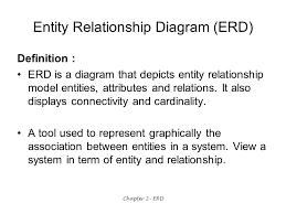 chapter   erd chapter   fundamental of entity relationship  er    chapter   erd entity relationship diagram  erd  definition   erd is a diagram