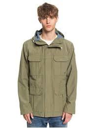 """Куртка парка """"Fresh Evidence"""" <b>Quiksilver</b> - зеленый, коричневый и ..."""