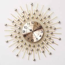 Luxury <b>Big Wall</b> Clock Modern Design European Style 3D ...