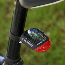 <b>Solar Power Bicycle</b> Flashing <b>LED</b> Tail <b>Light</b> Motorised Push <b>Bike</b> ...