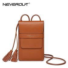 NEVEROUT Genuine Leather <b>Mini</b> Fashion Cellphones <b>Purse</b> ...