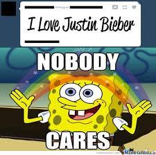 Nobody Cares by batmancookies - Meme Center via Relatably.com