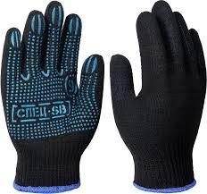 <b>Перчатки</b> х/б с <b>ПВХ</b> СПЕЦ-SB®-10, 52 гр, <b>черные</b>