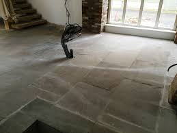 seal flagstone patio red sealer yorkshire stone floor before cleaning and sealing driffield
