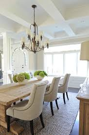 trestle table dining room traditional interesting ideas with woven rug wood trim chic dining room table