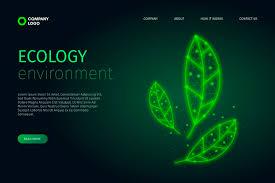 Технологический дизайн экологии   Бесплатно векторы
