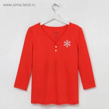 Лонгслив KAFTAN <b>&quot</b>;<b>Snow&quot</b>; красный, р.48-50 : Текстиль ...