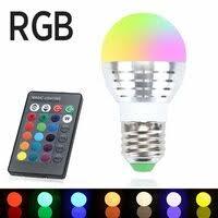 «<b>RGB LED лампа</b> с дистанционным пультом управления 220В ...