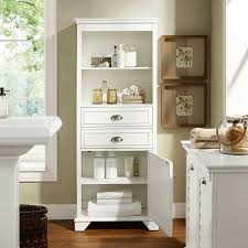 White Bathroom Units Lydia 60 Tall Bathroom Storage Cabinet In White By Crosley