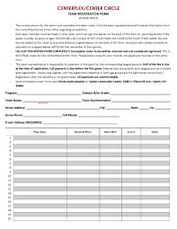 m community center team sports registration form and waiver team registration centerplex center circle page 1