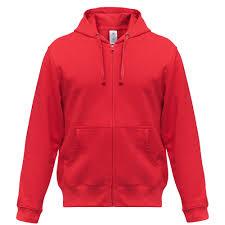 <b>Толстовка мужская Hooded Full</b> Zip красная (артикул WM647004 ...