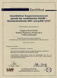 hygiene nord ring trial quantitative suspension test 08 10