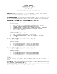 samples of resume for hotel jobs