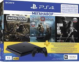 <b>Игровая приставка Sony PlayStation</b> 4 Slim 1TB в комплекте с 3 ...