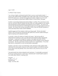 personal letter of recommendation reference letter writing a student teacher recommendation letter examples letter of recommendation student teaching coordinator