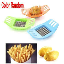 Chende <b>1pcs</b> Color Random French Fry <b>Potato Chip</b> Cut Cutter Slicer