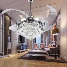 Online Shop <b>LED Modern</b> Crystal <b>Acrylic</b> Ceiling Fan <b>LED</b> Lamp ...