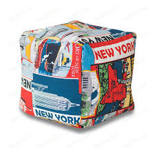 <b>Пуф Bean-bag Кубик</b> - New York | www.minecubes.ru