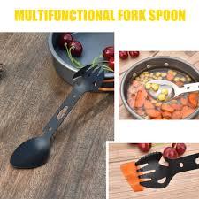 Sporting Goods <b>Multifunctional Stainless Steel</b> EDC Spork <b>Fork</b> ...