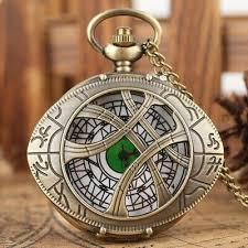Vintage Quartz Unisex <b>Pocket Watch</b> Stainless Steel <b>Oval Bronze</b> ...