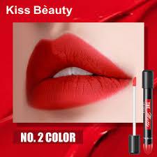 <b>Kiss Beauty</b> Matte Lip Tint 6ML Dark Red Vampire <b>Lip Gloss</b> ...