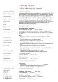 office administrator resume 2 examples of resumes for administrative positions