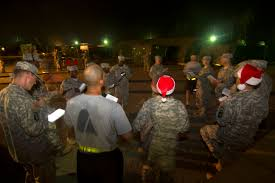 u s department of defense photo essay u s iers sing holiday carols on christmas eve on camp buchanan in buchanan