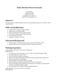 simple flight attendant resume templatesimple flight attendant resume