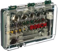 <b>Набор бит с</b> ключом-трещоткой (27 предметов) Bosch 2607017160