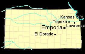 <b>William Allen White</b>, Kansas Author, Map of Kansas Literature