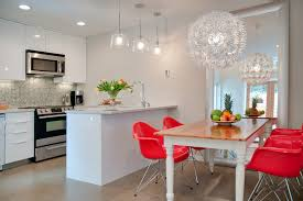 11th carnarvon laneway house example of a trendy eat in kitchen design in other with mosaic beautiful funky dining room lights