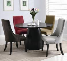 amhurst black satin wood dining table black wood dining room