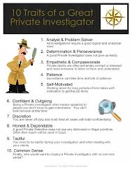 skills infographics ly 10 traits every private investigator needs infographic