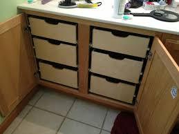 Kitchen Cabinet Slide Out Kitchen Cabinets With Sliding Shelves Monsterlune