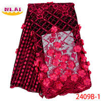 tulle embroidered net lace african french laces fabrics high quality nigerian with stones swiss fabric 116