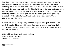 nehru    s letter to daughter indira from prison is the best advice a    nehru    s words will always remain a timeless piece of advice
