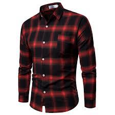 <b>2018 Men's Autumn</b> New Korean Long sleeved Plaid <b>Shirt</b> | Shopee ...