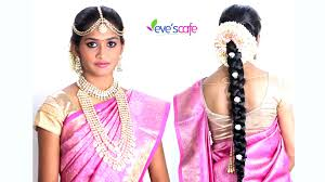 bridal makeup tutorial south indian bridal makeup traditional bridal hairstyles by evescafe 2016