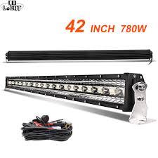 <b>CO LIGHT</b> 42 inch <b>12D</b> Straight LED <b>Light</b> Bar <b>780W</b> 3 Rows Spot ...