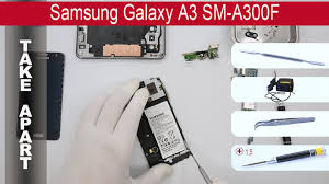 How to disassemble <b>Samsung Galaxy</b> A3 A300, Take Apart, Tutorial ...