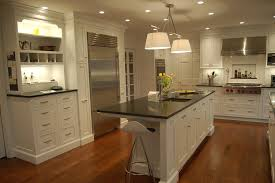 splendid kitchen furniture design ideas. white drum shade ceiling hanging lamp over rectangle kitchen island using black granite countertop splendid furniture design ideas r