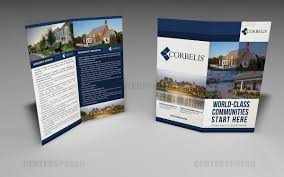 professional serious brochure design for garrett solomon by brochure design by centersp for corporate brochure needed for real estate developer design 3103941