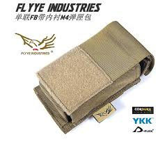 <b>FLYYE MOLLE Single</b> Unit FB Lined M4 magazine pouch Military ...