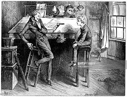 david copperfield and uriah heep 1912 artist frederick barnard scene from david copperfield by charles dickens a print from the bookman