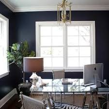 navy blue office transitional denlibraryoffice tiffany jones layered ruginterior design luxury office home office decor ideas inspirations for blue office room design