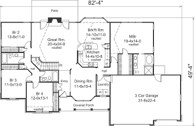Ranch Style House Plans   Plan   Main Floor Plan