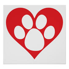 Image result for dog paw in heart clip art
