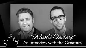 interview chris nielsen and bart batchelor talk world doctors chris nielsen and bart batchelor helm the canadian absurdist adult animation sketch comedy show world doctors the second season of their hit show
