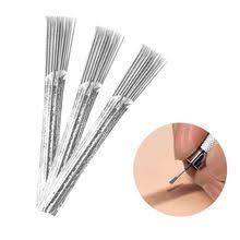 5pcs/lot Broom Shaped <b>Disposable</b> 40 Pin <b>Round Microblading</b> ...