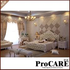 classical light colour bedroom furniture luxury bedroom sets 5pcs in 1set bedroom set light wood light